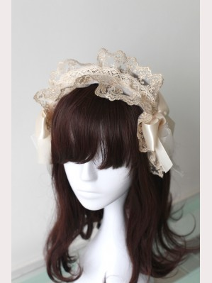 Souffle Song Ribbon Flower Lolita Headbow