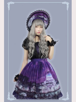 Souffle Song Vatican Castle's Moonlight Lolita Skirt SK