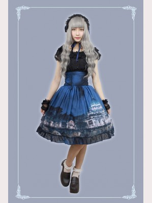 Souffle Song Vatican Castle's Moonlight Lolita Skirt SK - Hight Waist