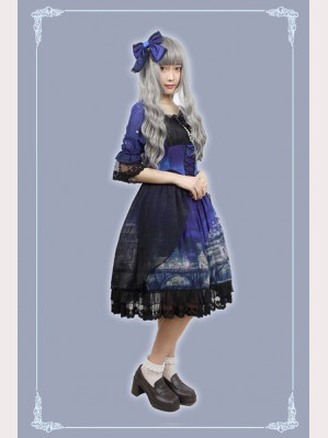 Souffle Song Vatican Castle's Moonlight Lolita Dress OP