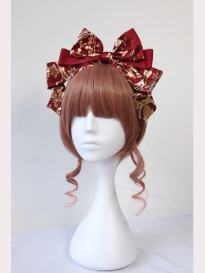 Souffle Song Gold Cross Lolita Headbow