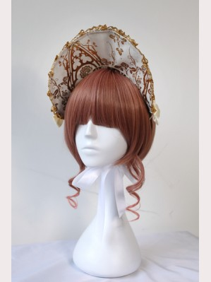 Souffle Song Gold Cross Lolita Bonnet
