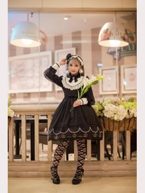 Souffle Song Black Soul Song Lolita Dress OP