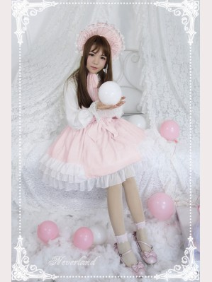 Souffle Song Cream Mousse Lolita Dress JSK