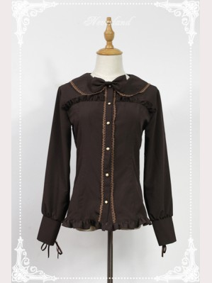 Souffle Song Wine Chocolate Lolita Blouse