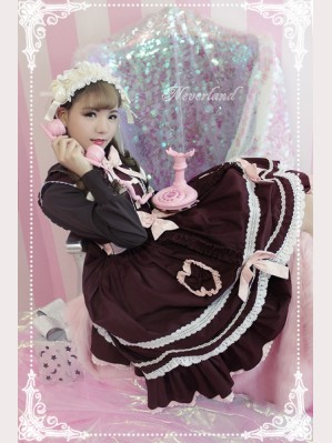 Souffle Song Wine Chocolate Lolita Dress OP