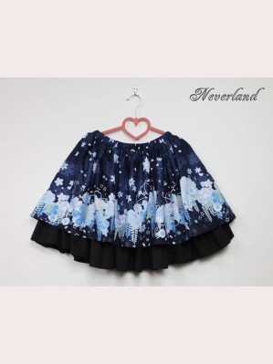 Souffle Song Hundred Ghost Nocturnal Lolita Skirt SK (Snow)