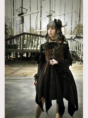 dc44b4a3e670 Souffle Song Pirate Ship Steampunk Lolita Dress JSK