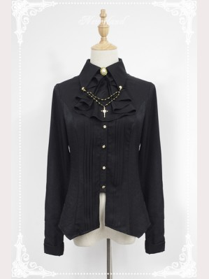 Souffle Song Dark Night Carol Bead Chain Blouse
