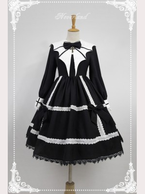 Souffle Song Devil's Wings Long Sleeve Dress OP