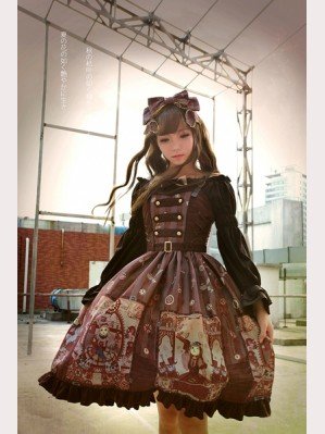 Souffle Song Steampunk Cat Lolita Dress JSK - Design 3