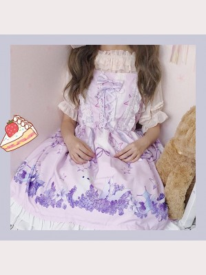 Rabbit's dreamland flower sea lolita dress JSK (DC05)