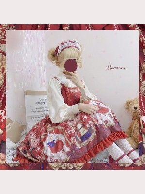Sugar plum fairy lolita dress JSK (burgundy) by OCELOT (DC02)