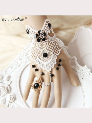 Evil Lamour Retro Fashionable lace bracelet ac21
