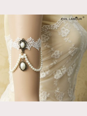 Evil Lamour Lace wedding armbands ac33