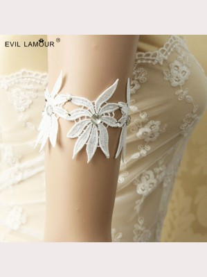 Evil Lamour Retro white lace armbands ac37