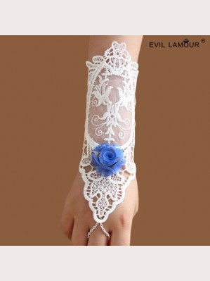 Evil Lamour  Retro white lace gloves ac65