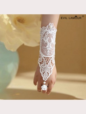 Evil Lamour Lace wedding gloves ac66