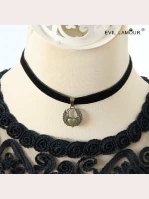 Evil Lamour Retro heart necklace