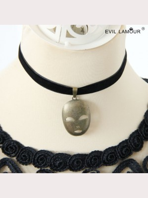 Evil Lamour Japanese Mask Necklace ac94