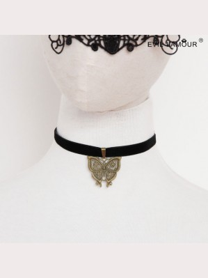 Evil Lamour European butterfly necklace ac104