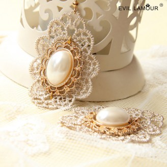 Evil Lamour Baroque palace earrings ac117