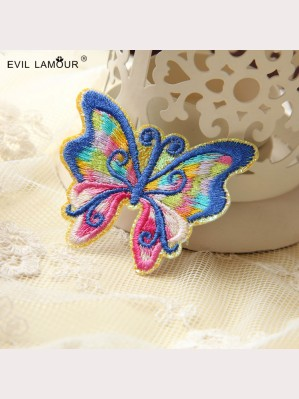 Evil Lamour Embroidery butterfly brooch ac119
