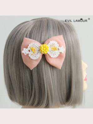 Evil Lamour Korean lace bow hairpin ac127