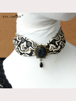 Evil Lamour Chiffon exaggerated necklace ac160