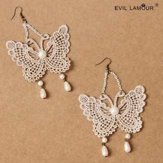 Evil Lamour palace butterfly earrings ac166