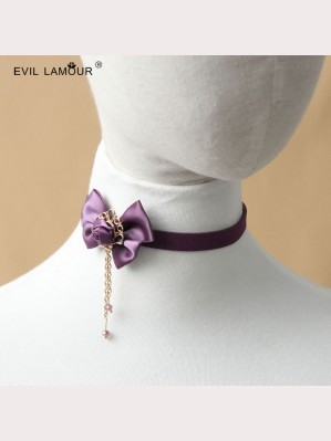 Evil Lamour purple Retro Necklace ac192