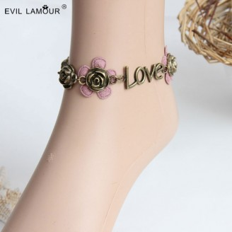 Evil Lamour Love Flower Bangle ac242
