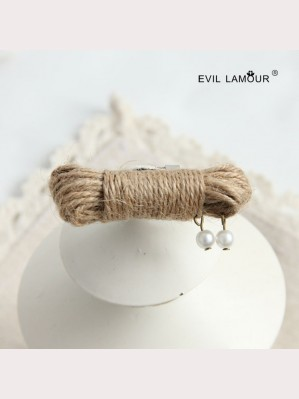 Evil Lamour rope pearl brooch ac278
