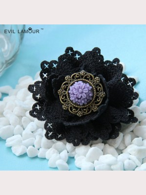 Evil Lamour Gothic rose brooch ac387