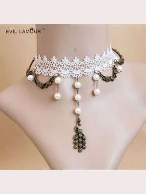 Evil Lamour European lace necklace ac406