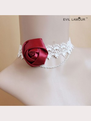 Evil Lamour Rose Lace Necklace ac411