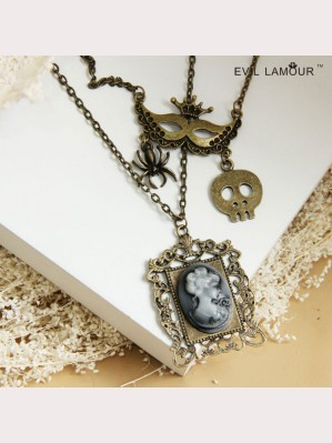 Evil Lamour necklace retro beauty ac468