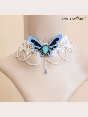 Evil Lamour Butterfly Wedding Necklace ac482
