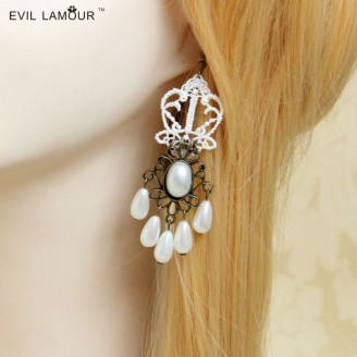 Evil Lamour Europe exaggerated earrings ac565