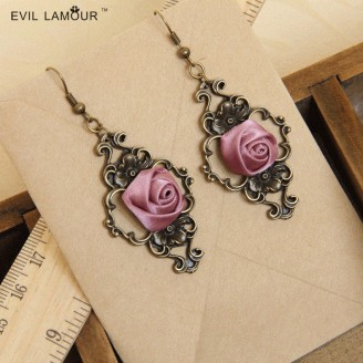 Evil Lamour palace retro earrings ac614