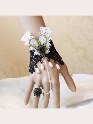 Evil Lamour retro prom bracelet with ring ac778