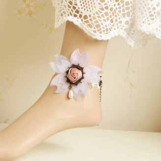 Evil Lamour white cherry anklets ac804