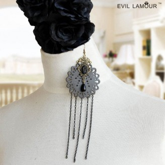 Evil Lamour Gothic retro earrings ac882