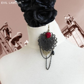Evil Lamour Europe exaggerated earrings ac883