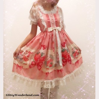 Glitzy Wonderland Fruit Rabbit Sweet Lolita Dress (GW1) Custom Sizing