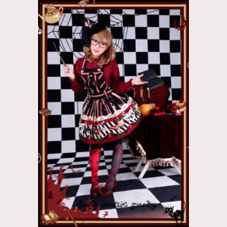 Infanta Dark magic party suspender skirt