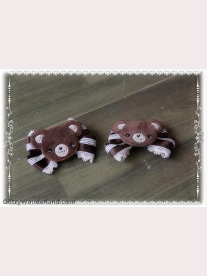 Infanta bear hairclip x 1 pair