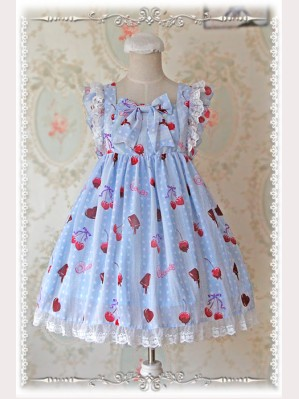 "Q-Candy ""Cherry"" Lolita high waist JSK"
