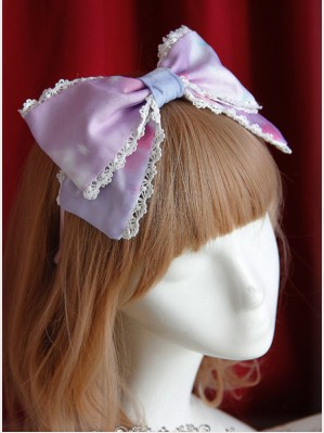 Infanta Rainbow Cotton Candy Lolita Head bow KC