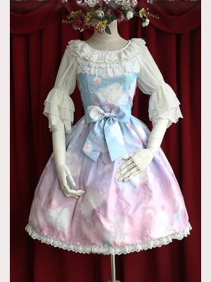 Infanta Rainbow Cotton Candy Lolita Dress JSK